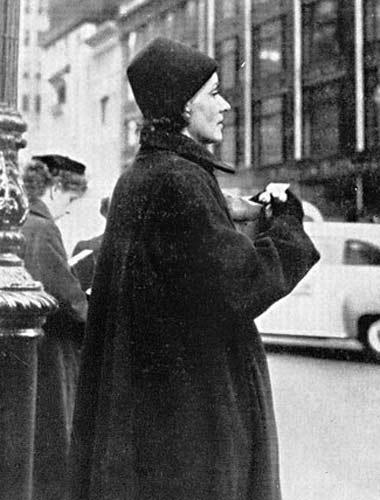 Greta Garbo Candid